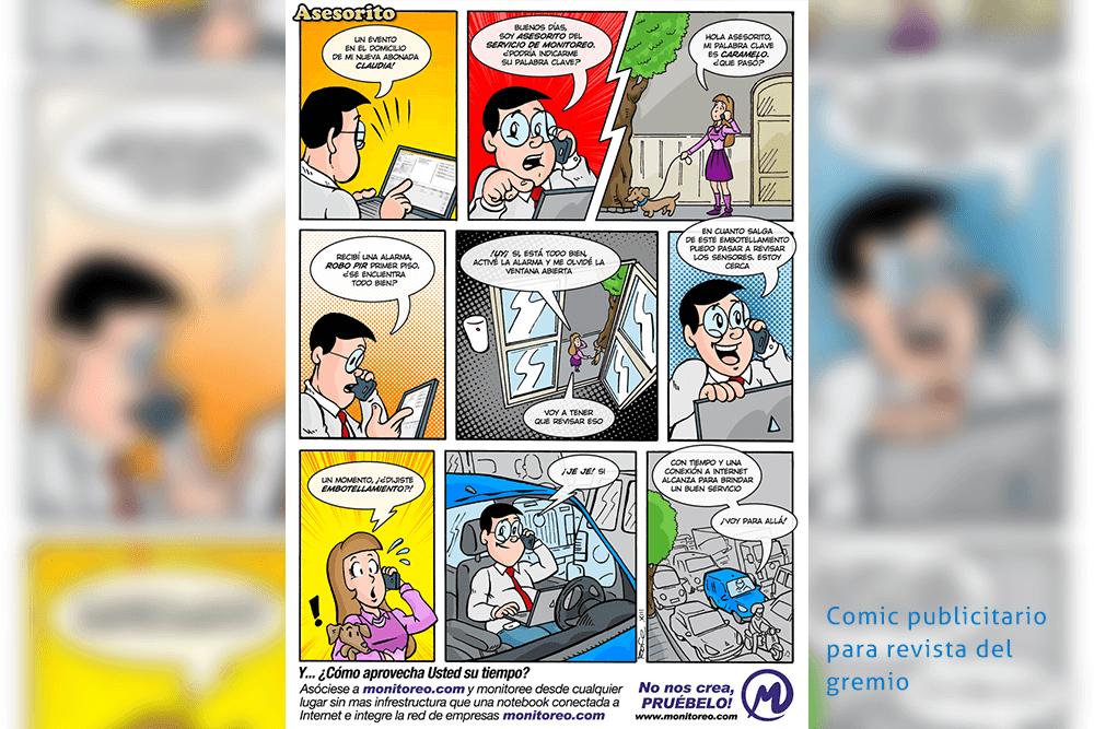 Comic Asesorito para revista del gremio